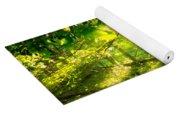 Radiant Sunlight Through The Trees Yoga Mat