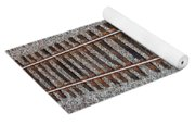 Railroad Track With Gravel Bed Yoga Mat