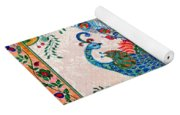 Rainbow Feathers Yoga Mat