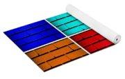 Rainbow Walls Yoga Mat
