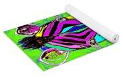 Rainbow Zebra 2 Abstract Yoga Mat