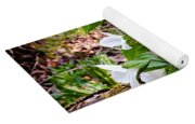Rare Great White Trilliums Yoga Mat