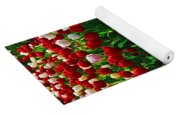 Red And White Tulip Art Yoga Mat