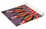 Red Arrow Abstract Yoga Mat