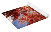 Red Autumn Leaves Yoga Mat
