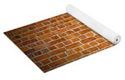 Red Brick Wall Texture With Vignette Yoga Mat