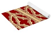 Gothic Pattern On Red Yoga Mat