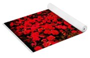 Red Impatiens Flowers Yoga Mat