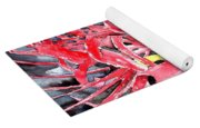 Red Spider Lily Flower Painting Yoga Mat