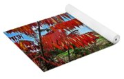 Red Sumac Field Yoga Mat