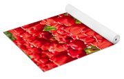 Red Tuilip Bed Yoga Mat