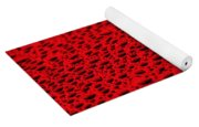 Red Water Drops On Water-repellent Surface Yoga Mat