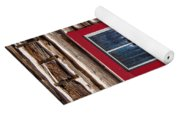 Red Window Log Cabin - Idaho Yoga Mat
