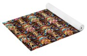 Richly Decorated Temple Ceiling Yoga Mat