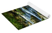 River Flowing Through Woods Yoga Mat