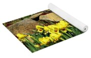 Rock Garden Flowers Yoga Mat