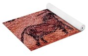 Rock Painting Of Tarpans Ponies, C.17000 Bc Cave Painting Yoga Mat