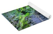 Rock Wall Trail Of The Cedars Glacier National Park Painted Yoga Mat