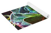 Rose Colorized Outline Yoga Mat
