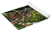Rose Garden And Trellis Yoga Mat