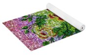 Roses And White Lilacs Lacy Bouquet Digital Painting Yoga Mat