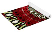 Roses Kaleidoscope Under Glass 18 Yoga Mat