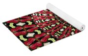 Roses Kaleidoscope Under Glass 21 Yoga Mat