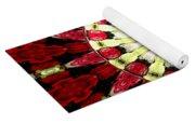 Roses Kaleidoscope Under Glass 23 Yoga Mat