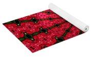Roses Kaleidoscope Under Glass 24 Yoga Mat