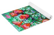 Roses With Apples Yoga Mat