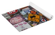 Route 66 Signs Yoga Mat