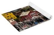 Rows Of Houses And Sails Yoga Mat