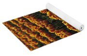 Rows Of Orange Tulips In Field Mount Vernon Washington State Usa Yoga Mat