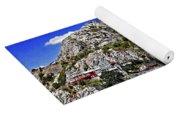 Rugged Cliffside Village Digital Painting Yoga Mat