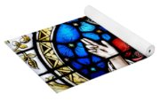 Sacred Heart Of Jesus In Stained Glass Yoga Mat
