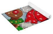 Santa And Rudolph Yoga Mat