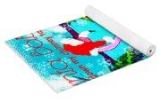 Santa Baby Flamingo Yoga Mat