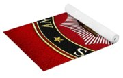Scottish Rite Double-headed Eagle On Red Leather Yoga Mat