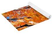 Sea Of Orange And Blue Yoga Mat