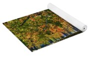 Seated Under The Fall Colors Yoga Mat