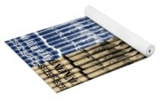 Singles In Gold And Blue Yoga Mat