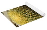 Small Barrel Cactus In Planter Yoga Mat