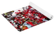 Snow Capped Berries Yoga Mat