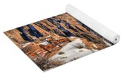 Snow In The Black Canyon Yoga Mat