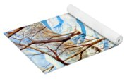 Snow Shadows Yoga Mat