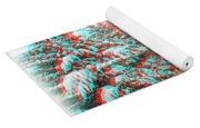 Snowy Lane - Use Red/cyan Filtered 3d Glasses Yoga Mat