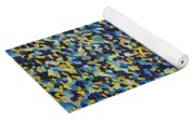 Soft Blue With Yellow Yoga Mat