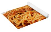 Spaghetti And Meat Sauce With Spoon Yoga Mat