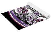 Spinning Celtic Skulls In Purple Yoga Mat