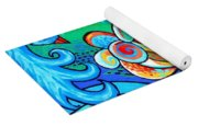Spiral Bird Lady Yoga Mat